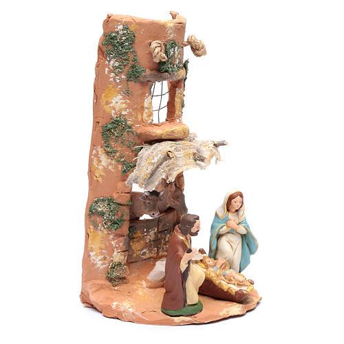 Coppo con Presepe tenda terracotta Deruta 35 cm 3