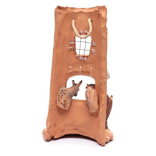 Coppo con Presepe tenda terracotta Deruta 35 cm 4