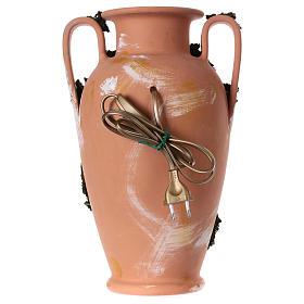 Natividade figuras altura média 16 cm numa jarra com 2 pegas terracota Deruta 35 cm s4