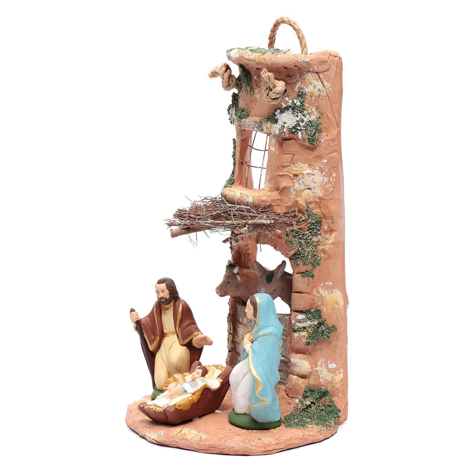 Coppo presepe terracotta con fascina Deruta 35 cm 4