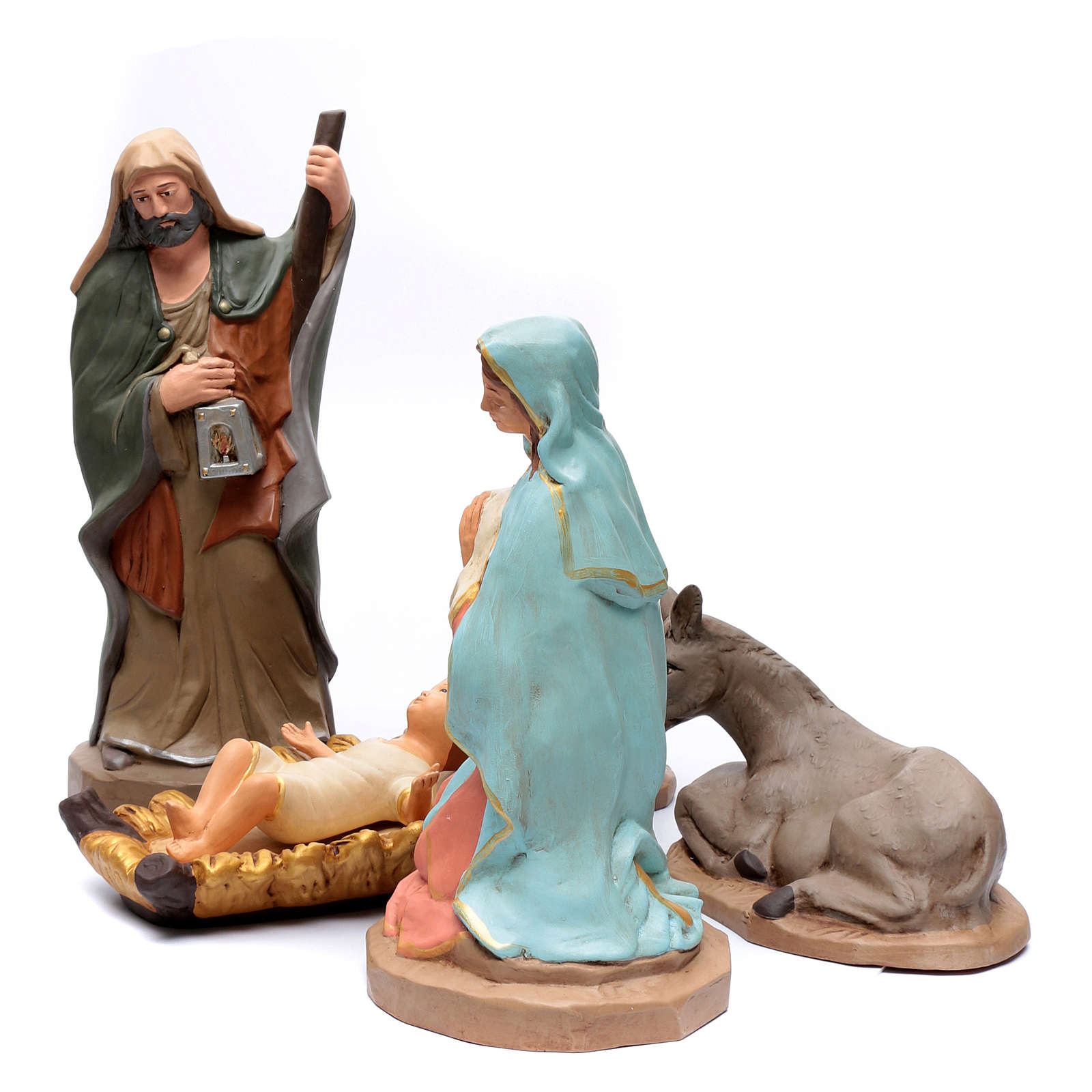 Sacra Famiglia in terracotta Deruta 50 cm 4