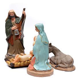 Sacra Famiglia in terracotta Deruta 50 cm s2