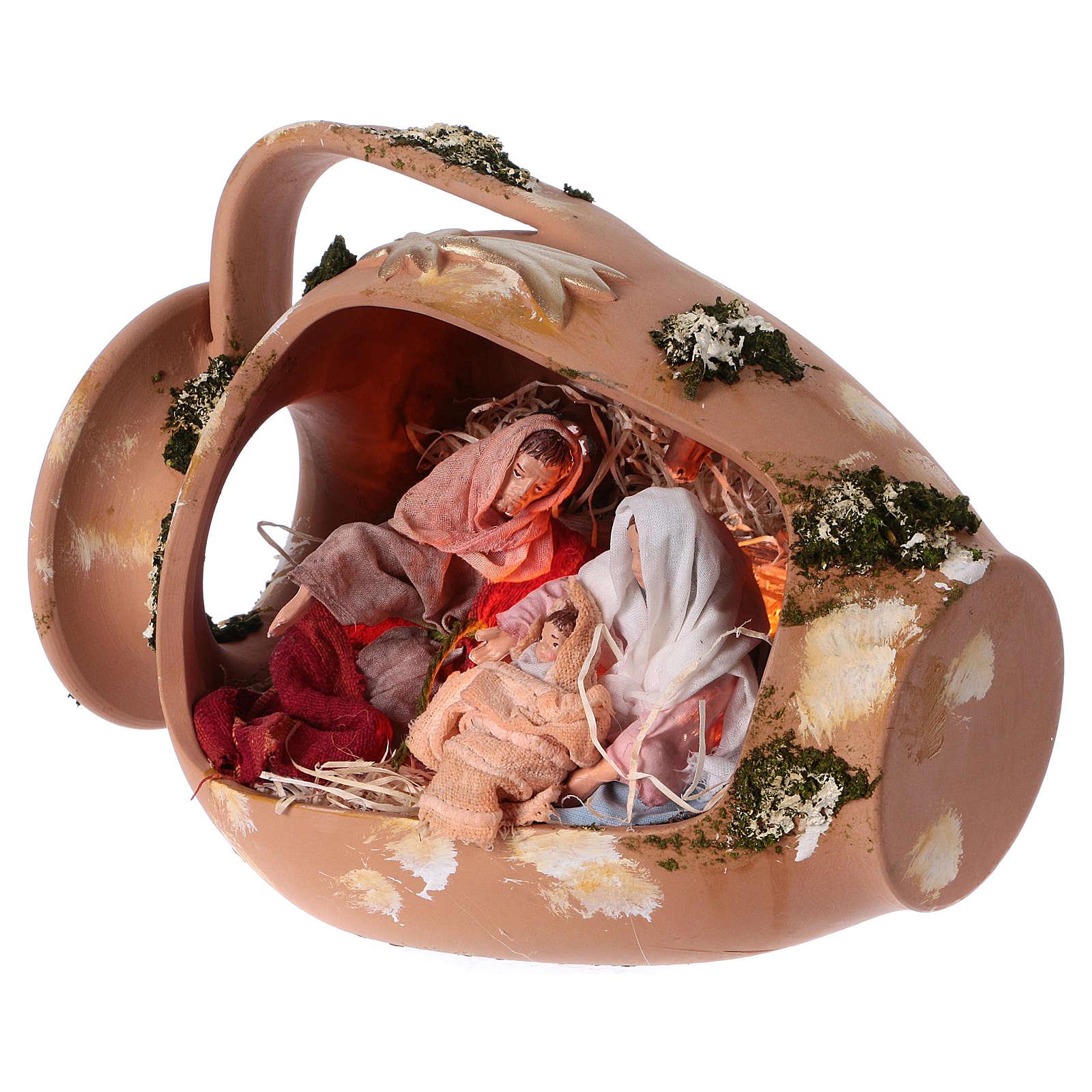 Ánfora con Natividad terracota Deruta 30cm 4