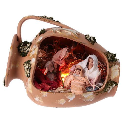 Ánfora con Natividad terracota Deruta 30cm 1