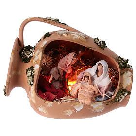 Presépio Terracota Deruta: Jarra com Natividade terracota Deruta 30 cm