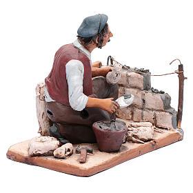 Muratore terracotta Deruta presepe 30 cm s4