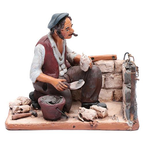 Muratore terracotta Deruta presepe 30 cm 1