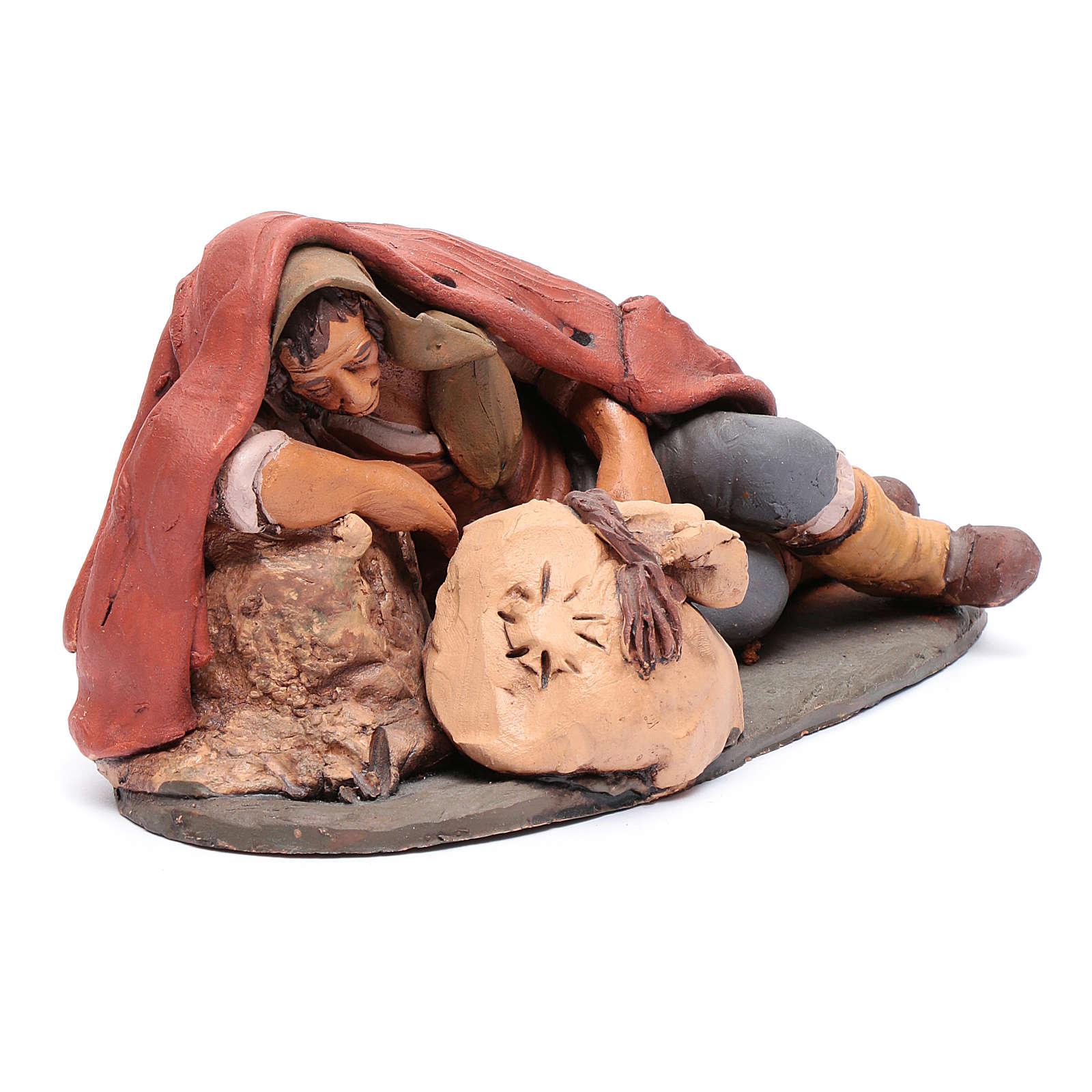 Dormiente 30 cm in terracotta di Deruta 4
