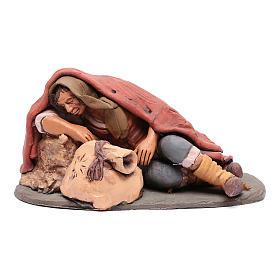 Dormiente 30 cm in terracotta di Deruta s1