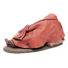 Dormiente 30 cm in terracotta di Deruta s3