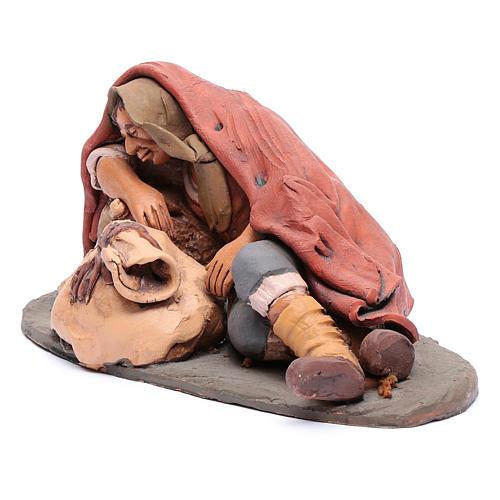 Dormiente 30 cm in terracotta di Deruta 2