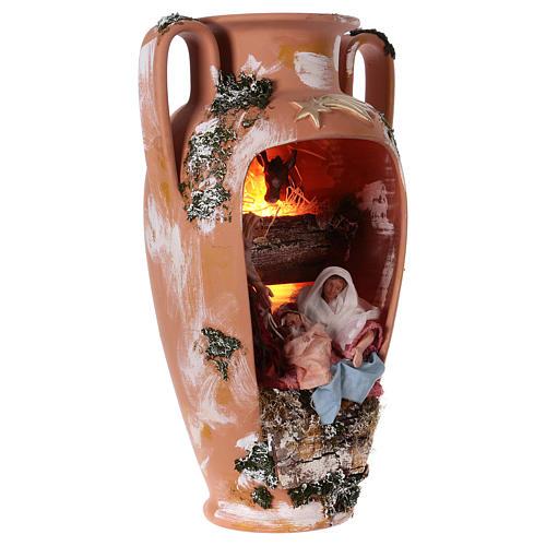Anfora natività terracotta presepe Deruta 50 cm 3