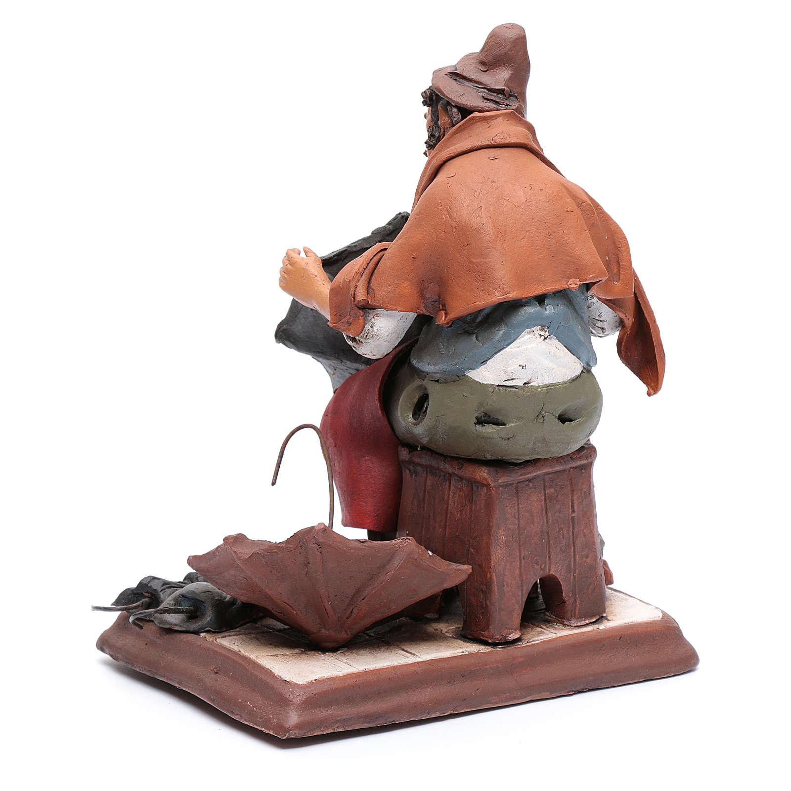 Ombrellaio in terracotta per presepe Deruta 30 cm 4