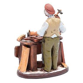 Vendeur chaises en terre cuite pour crèche Deruta 18 cm s3