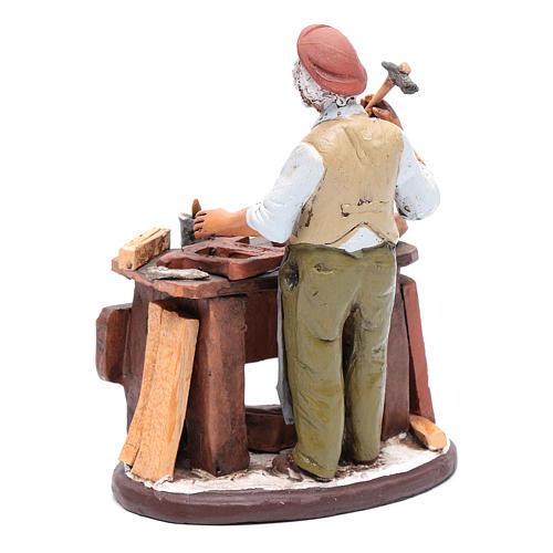 Vendeur chaises en terre cuite pour crèche Deruta 18 cm 3