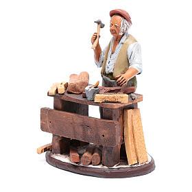 Venditore seggiole in terracotta presepe Deruta 18 cm s2