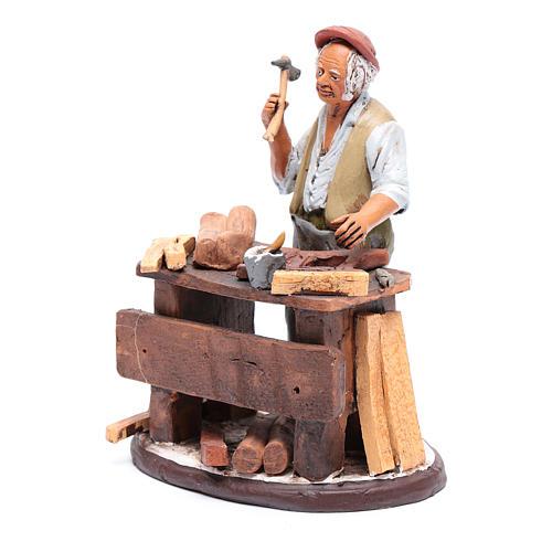Venditore seggiole in terracotta presepe Deruta 18 cm 2