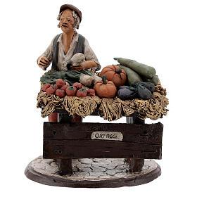 Venditore ortaggi in terracotta per presepe Deruta 18 cm s1