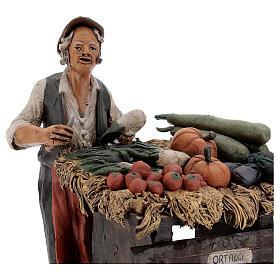 Venditore ortaggi in terracotta per presepe Deruta 18 cm s2