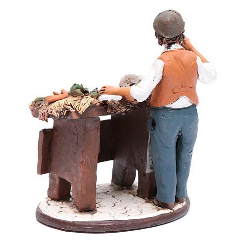 Venditore ortaggi in terracotta per presepe Deruta 18 cm 3