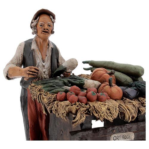 Venditore ortaggi in terracotta per presepe Deruta 18 cm 2