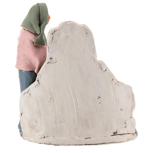 Woman at the fountain 18cm Deruta 5