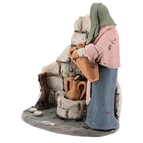 Mujer a la fuente belén Deruta 18 cm de terracota 4