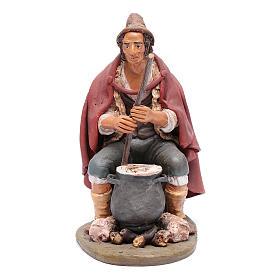 Pastore con ricotta presepe Deruta 30 cm terracotta s1