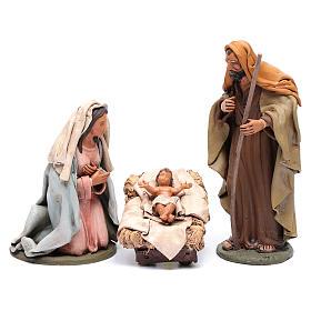 Presépio Terracota Deruta: Natividade decorada presépio Deruta 30 cm em terracota