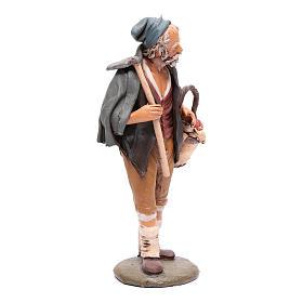 Agriculteur avec panier et pioche crèche Deruta 30 cm s4