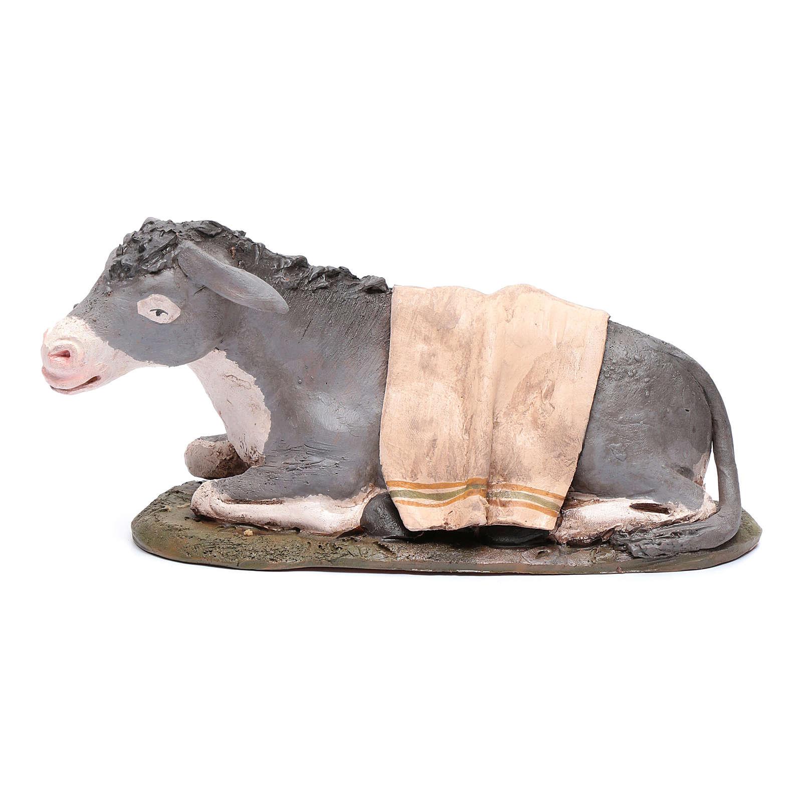 Nativity Scene figurine, donkey 30cm Deruta 4