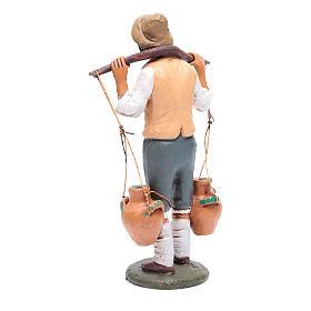 Uomo porta acqua presepe Deruta 30 cm in terracotta s3