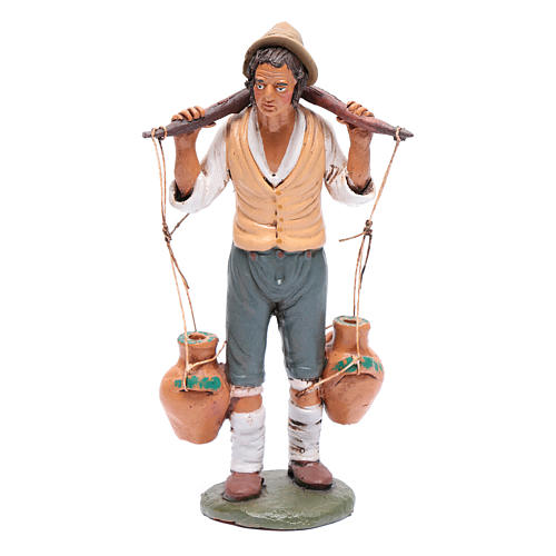 Uomo porta acqua presepe Deruta 30 cm in terracotta 1