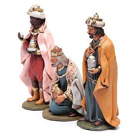 Reyes Magos Belén Deruta 30 cm terracota s2