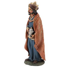 Reyes Magos Belén Deruta 30 cm terracota s4