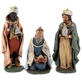 Reyes Magos Belén Deruta 30 cm terracota s7