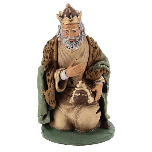 Reyes Magos Belén Deruta 30 cm terracota 3