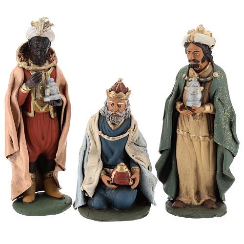 Reyes Magos Belén Deruta 30 cm terracota 7