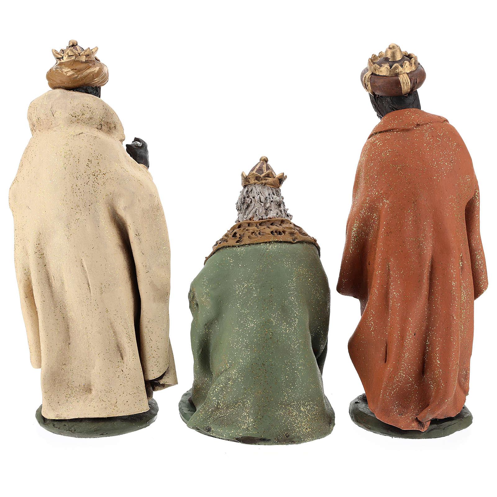 Rois Mages pour crèche 30 cm terre cuite Deruta 4