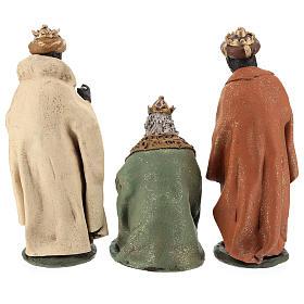 Rois Mages pour crèche 30 cm terre cuite Deruta s6