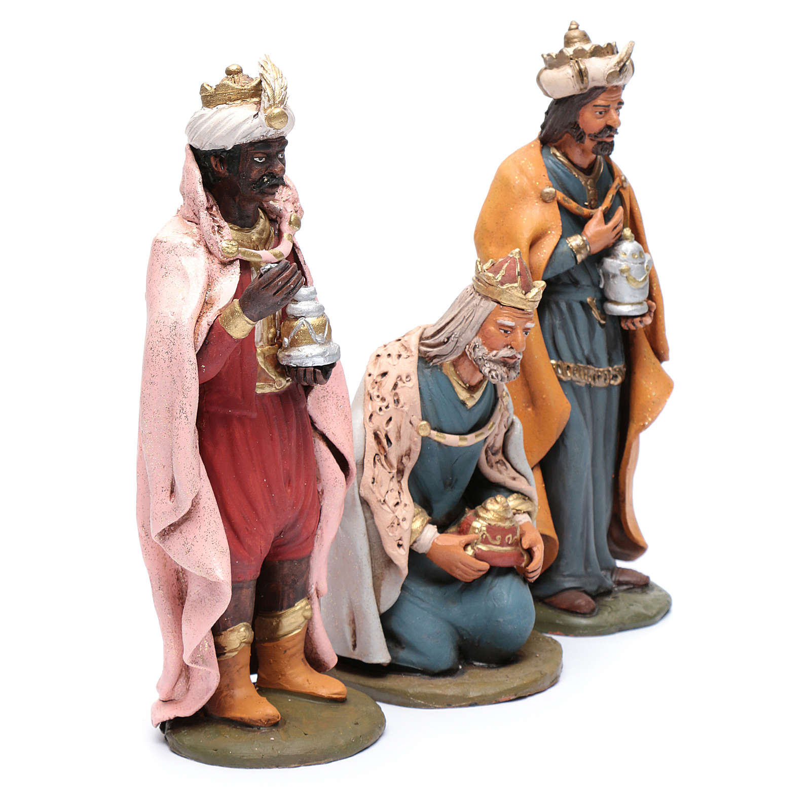 Re magi presepe Deruta 30 cm in terracotta 4