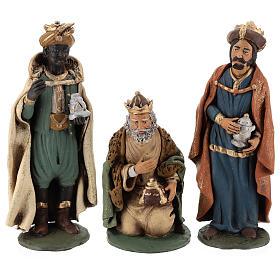 Presépio Terracota Deruta: Reis Magos presépio Deruta em terracota com figuras de altura média 30 cm