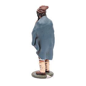 Pifferaio decorato presepe Deruta 30 cm terracotta s3