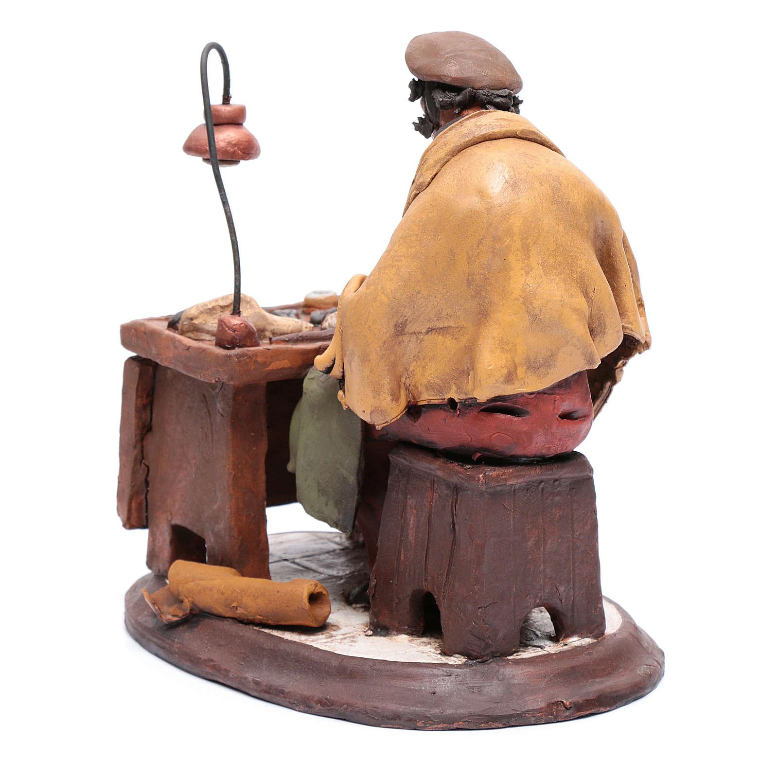 Calzolaio presepe Deruta 30 cm in terracotta 4