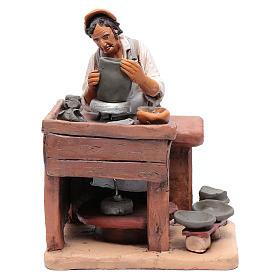 Ceramista decorato presepe Deruta 30 cm in terracotta s1