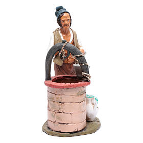 Presépio Terracota Deruta: Homem no poço para presépio Deruta 30 cm terracota