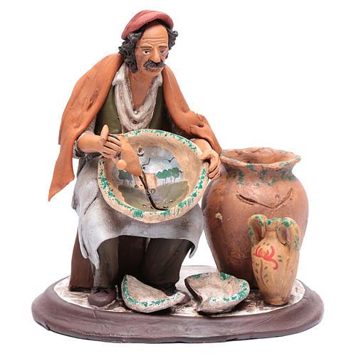 Pittore seduto per presepe 30 cm in terracotta 1