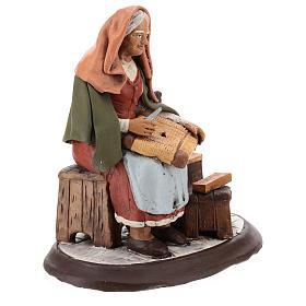 Nativity Scene figurine, chairmender 30cm Deruta s4