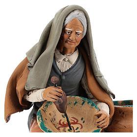 Pittrice per presepe 30 cm terracotta decorata Deruta s2