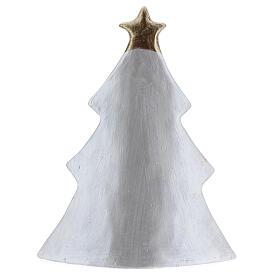 Sacra Famiglia albero terracotta Deruta bianco oro 19x16 cm s4